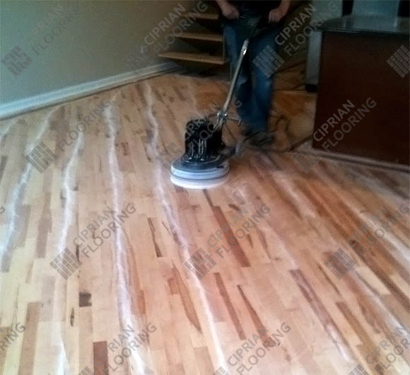 Ciprian Flooring Team Buffing Project