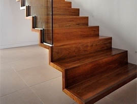Hanging Wooden Stairs